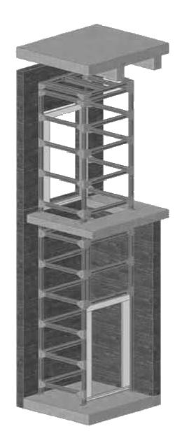 Montage von Schachtgerüsten